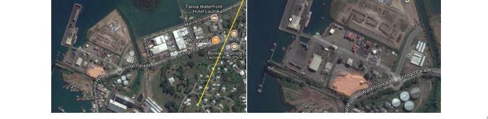 Îles Fidjis, repère GPS