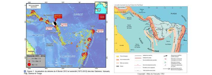 Séismicité et cadre structural des Iles Fidji