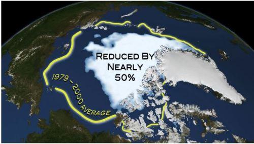Étendue de la glace de mer_2012_Sept faible_réduit de plus de 50pc_Imagerie de la glace NASA